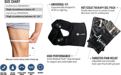 Knee Heat and Ice Wrap & Packs (All-in-1)