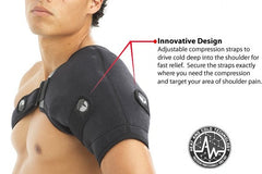 Shoulder Ice Wrap, Shoulder Ice Pack,Frozen Shoulder Relief, Rotator Cuff Pain Relief, ActiveWrap Shoulder Ice Wrap