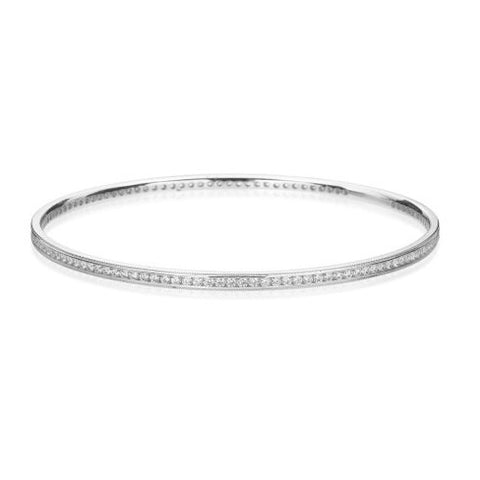 Hearts On Fire Milgrain Diamond Bangle