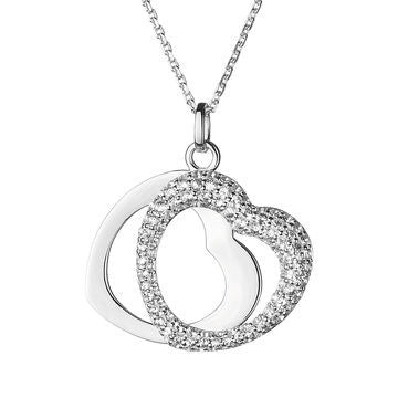 Links of London Love Note White Sapphire Pendant Necklace - 5024.1062
