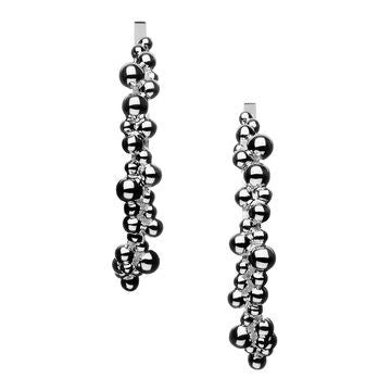 Links of London Sterling Silver Effervescence Hoop Earrings - 5040.1596