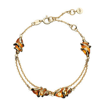 Links of London 18K Yellow Gold and Citrine Entwine Bracelet - 5010.1468