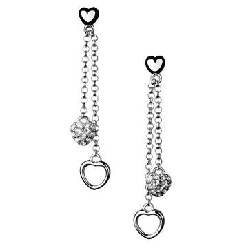 Links of London White Sapphire Love Note Stiletto Earrings - 5040.1791