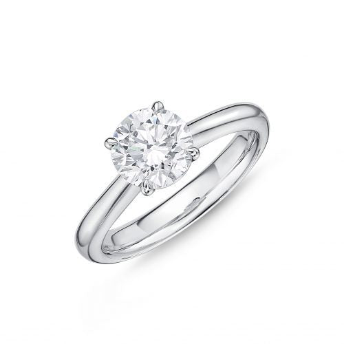 Passion Collection Solitaire & Stud Diamond Platinum Ring