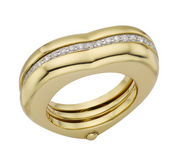 Links of London Love Note 18K Yellow Gold Diamond Ring - 5045.3159