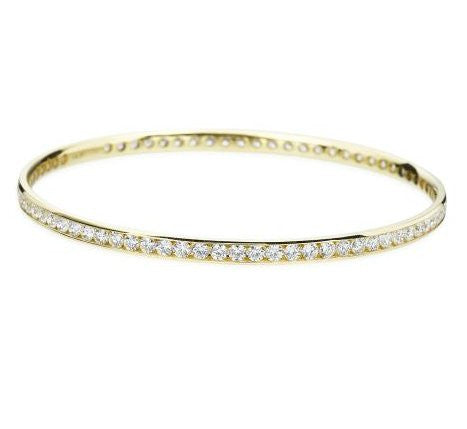 Hearts On Fire Yellow Gold Eternity Channel Bangle
