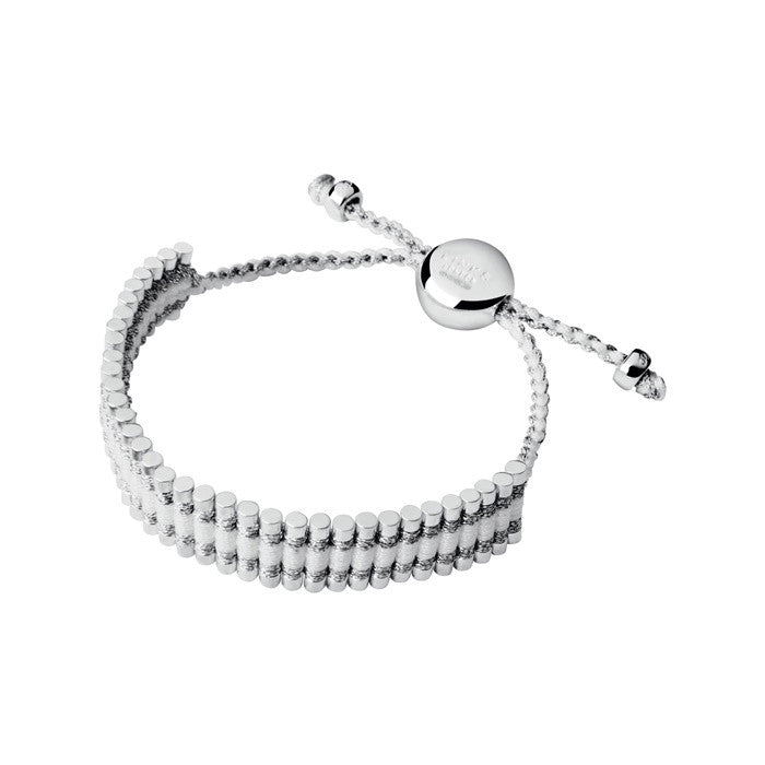 Links of London Friendship Bracelet - Pewter & White - 5010.0543
