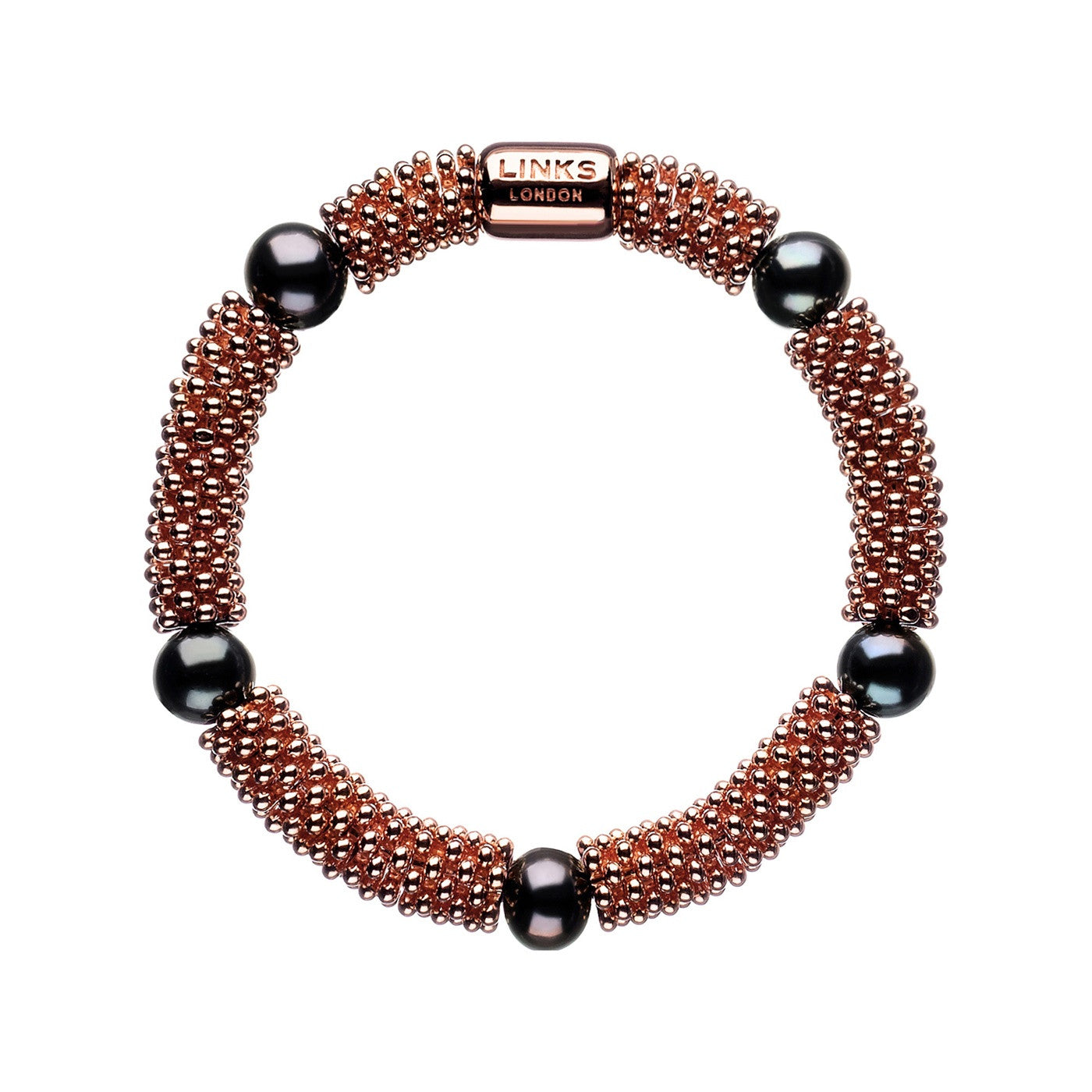 Links of London Effervescence Star Bracelet Rose Gold and Pearls - 5010.1397