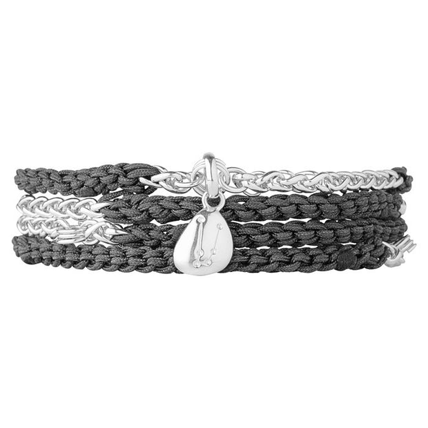 Links of London Grey Charm Wrap Bracelet - 5010.1877