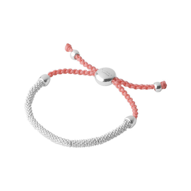 Links of London Sterling Silver Effervescence Star XS Cord Coral Bracelet - 5010.2065