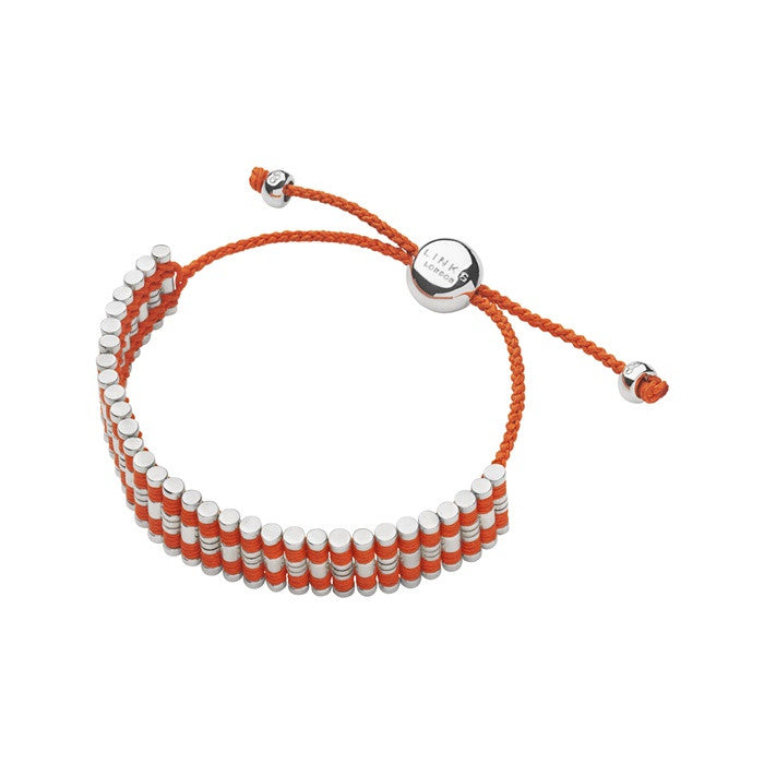 Links of London Friendship Bracelet Center Groove Orange - 5010.2094