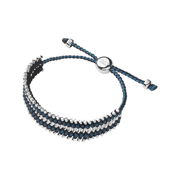 Links of London Herringbone Friendship Bracelet Navy And Teal - 5010.2097