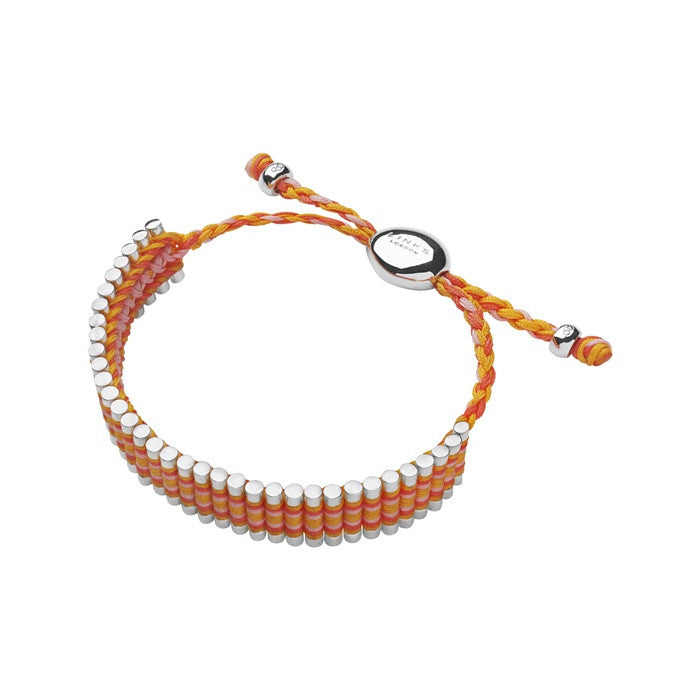 Links of London Orange, Coral And Pink Friendship Bracelet - 5010.2098