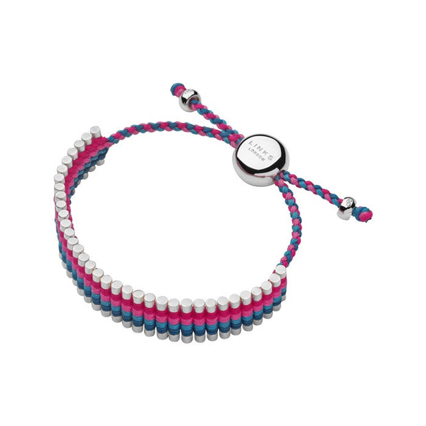 Links of London Turquoise and Pink Friendship Bracelet - 5010.2103