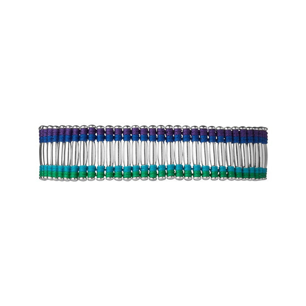 Links of London Woven Cuff Bracelet Green, Blue And Purple - 5010.2104