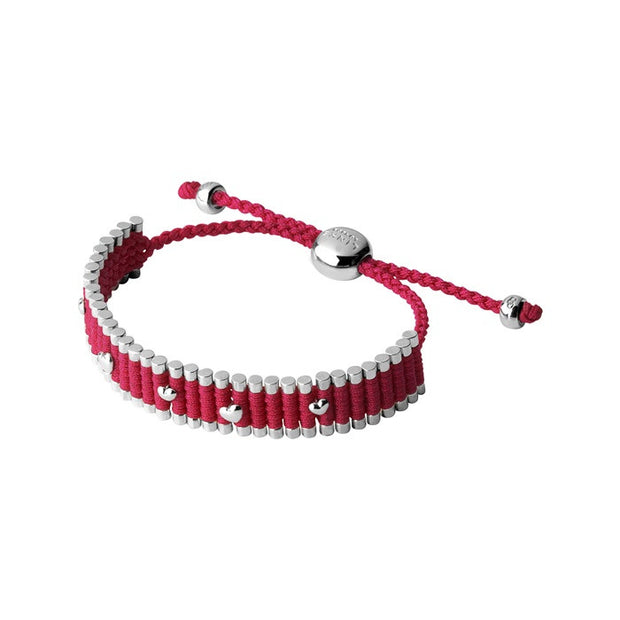 Links of London Fuchsia Mini Stud Friendship Bracelet - 5010.2334