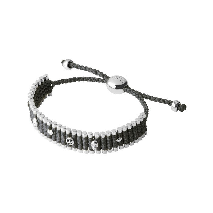 Links of London Grey Mini Stud Friendship Bracelet - 5010.2335