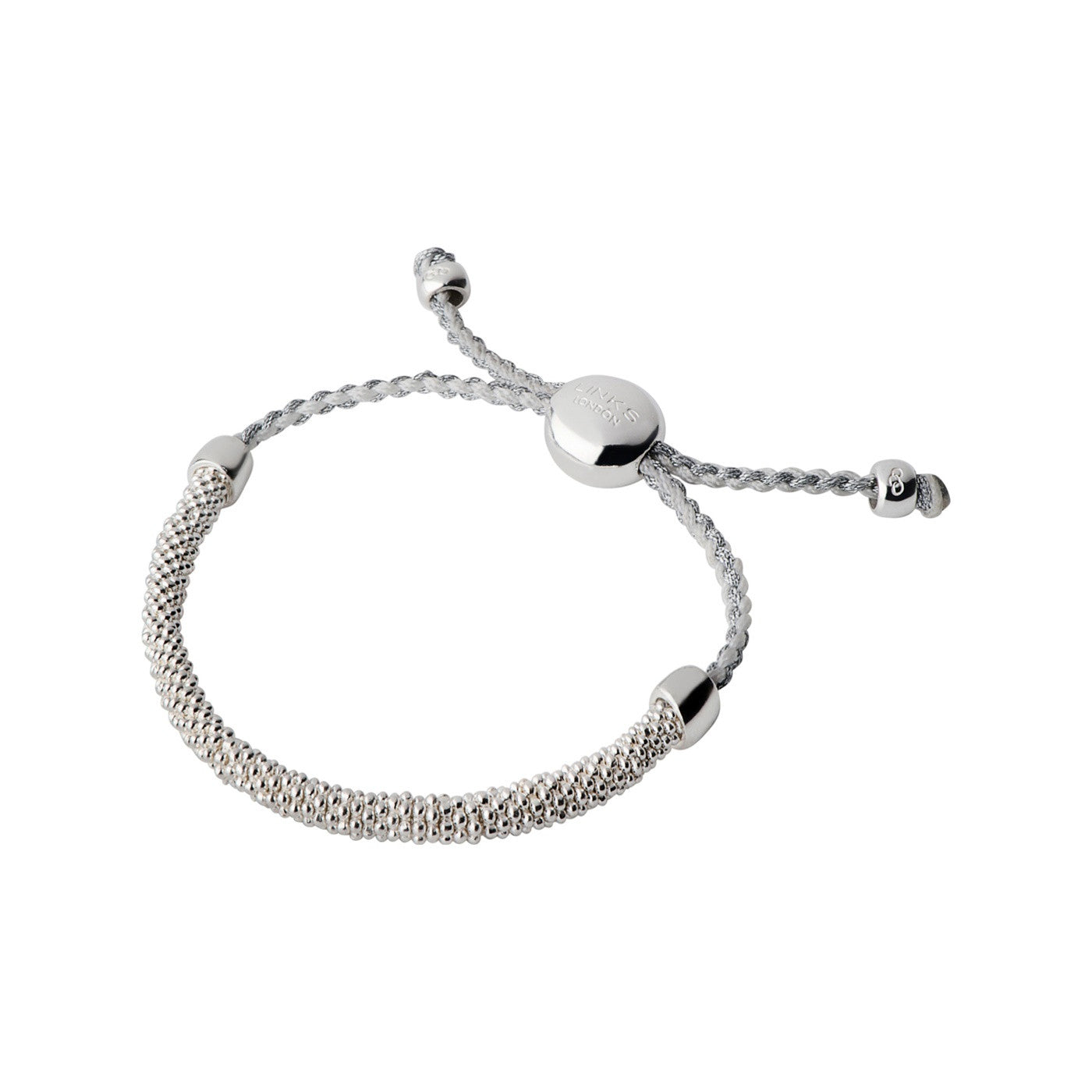 Links of London Effervescence XS Cord Pewter Bracelet - 5010.2345