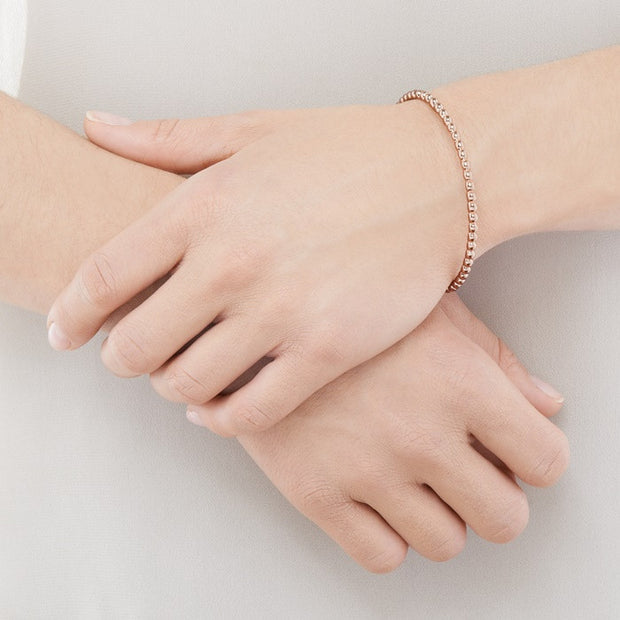 Links of London Effervescence Essentials Rose Gold Bangle - 5010.2563