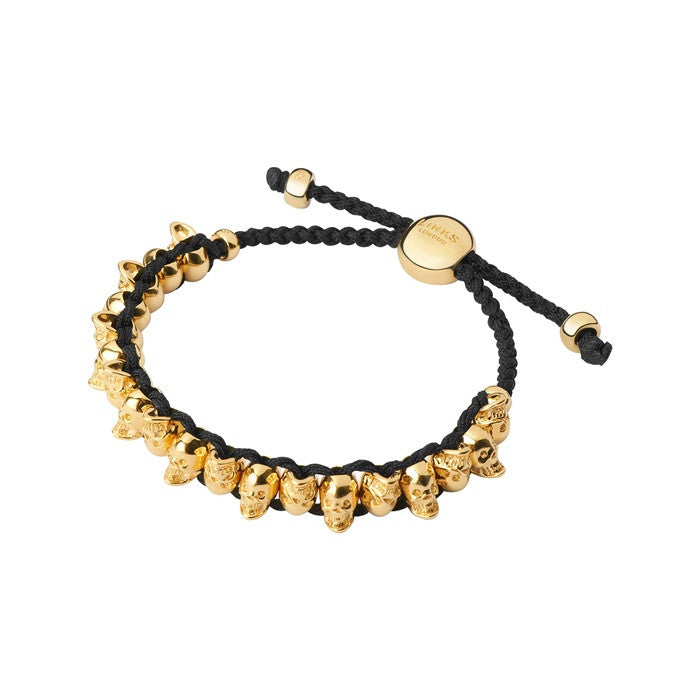 Links of London Yellow Gold Vermeil Skull Friendship Bracelet - 5010.2584