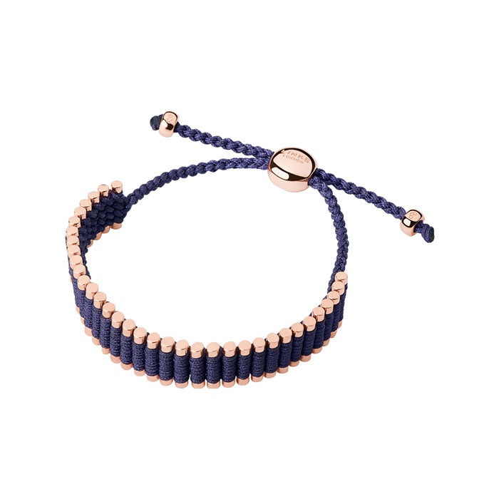 Links of London Rose Gold Deep Purple Friendship Bracelet - 5010.2609