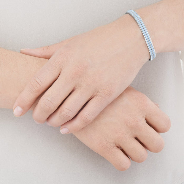 Links of London Pale Blue and Pewter Mini Friendship Bracelet - 5010.2715