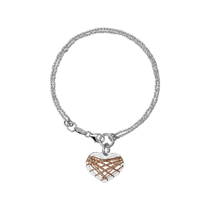 Links of London Dream Catcher Heart Rose Gold Bracelet - 5010.2723