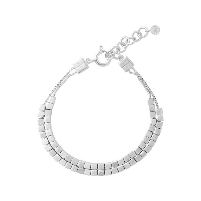 Links of London Cubist Double Row Bracelet - 5010.2813