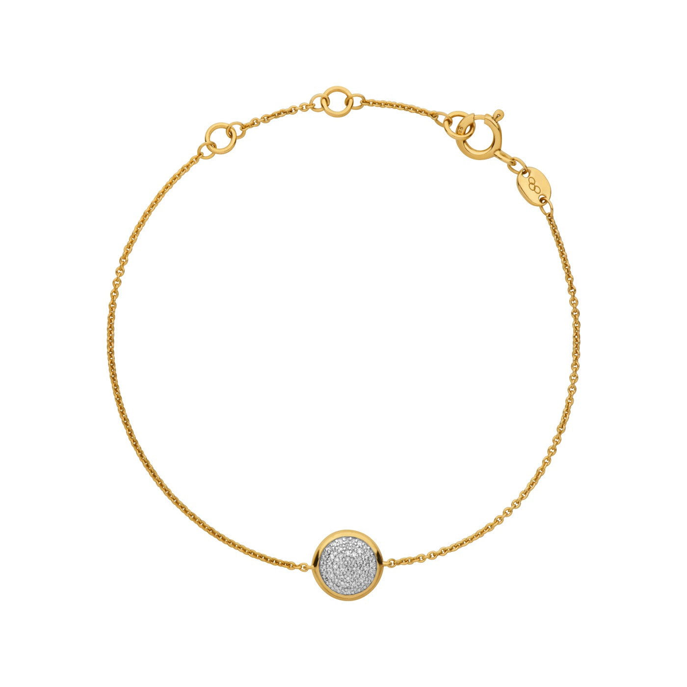Links of London Diamond Essentials Pave Round Bracelet Yellow Gold Vermeil - 5010.2844