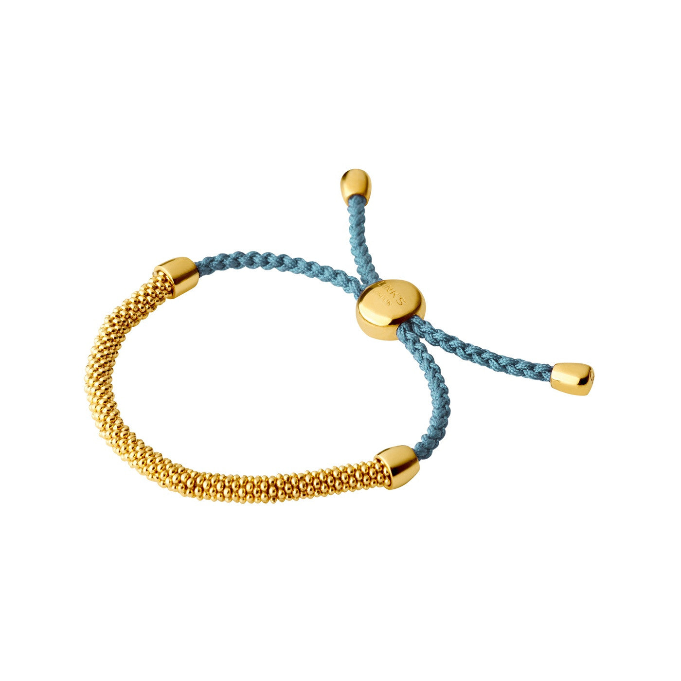 Links of London Effervescence XS 18K Yellow Gold Vermeil & Blue Cord Bracelet - 5010.3147