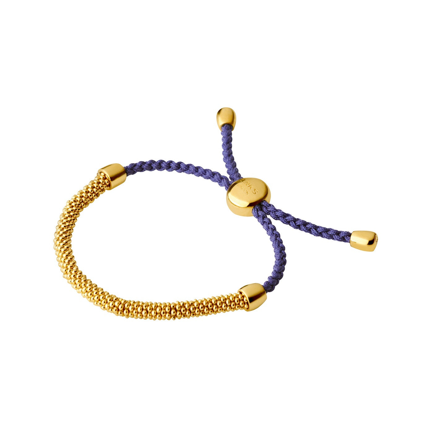 Links of London Effervescence XS 18K Yellow Gold Vermeil & Purple Cord Bracelet - 5010.3148
