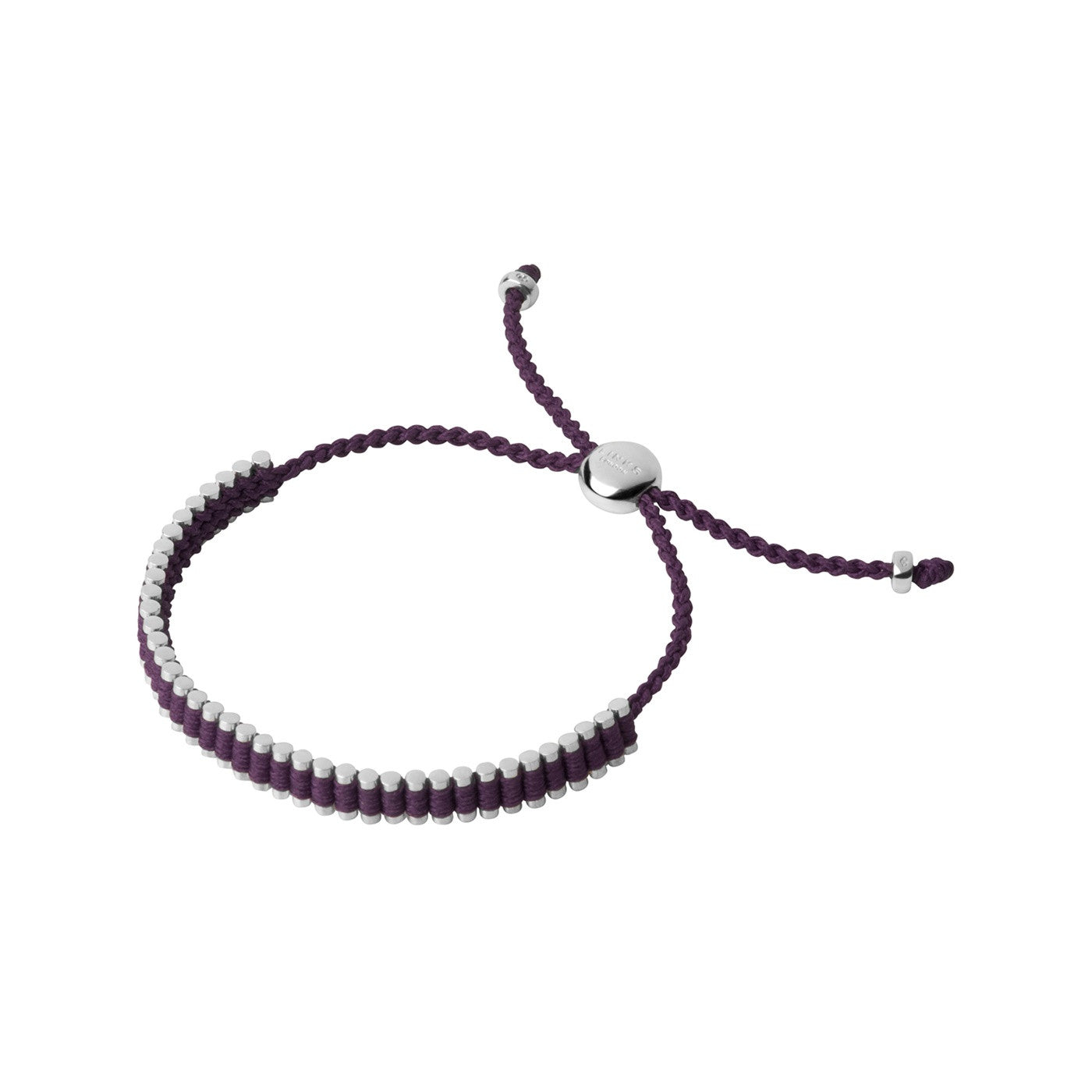Links of London Sterling Silver & Plum Mini Friendship Bracelet - 5010.3153