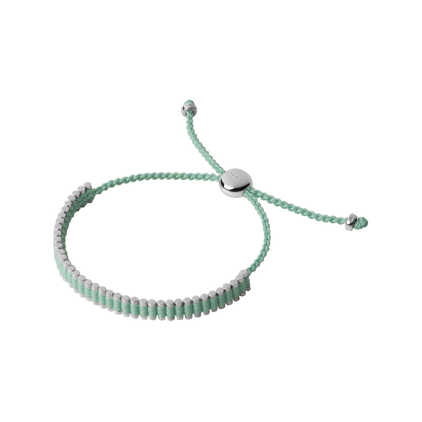 Links of London Sterling Silver & Mint Green Mini Friendship Bracelet - 5010.3155