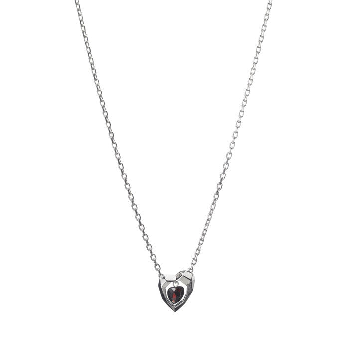 Links of London Flutter & Wow Heart Garnet Necklace - 5020.1128