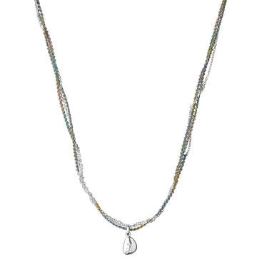 Links of London Sterling Silver Multi-Row Cord & Chain Necklace - 5020.2083