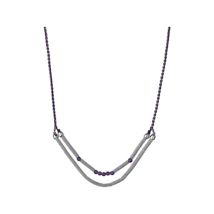 Links of London Effervescence Star Xs Cord Double Row Amethyst Necklace - 5020.2466