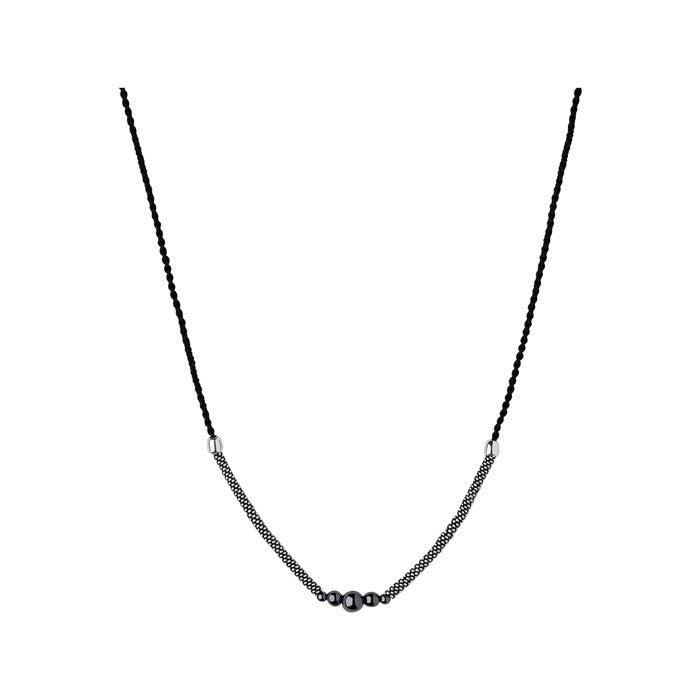 Links of London Effervescence Star Xs Cord Oxidized Sterling Silver Necklace - 5020.2467