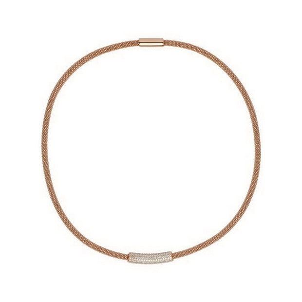 Links of London Star Dust Rose Gold Tube Necklace - 5020.2635