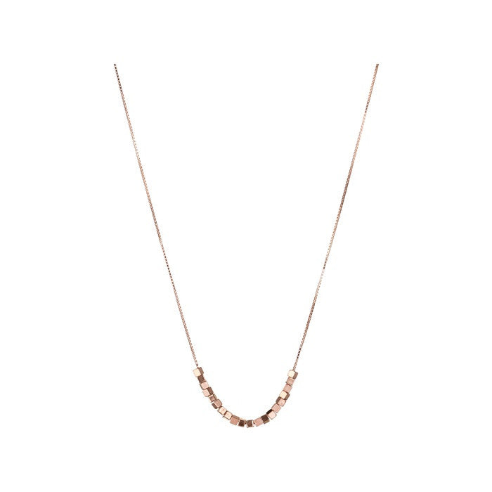 Links of London Cubist Rose Gold Vermeil Necklace - 5020.2647