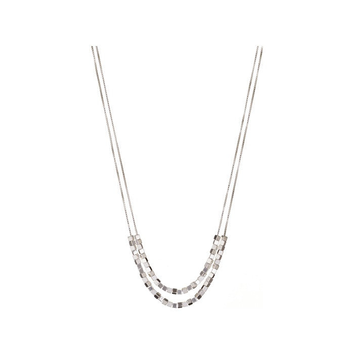 Links of London Cubist Double Row Necklace - 5020.2702