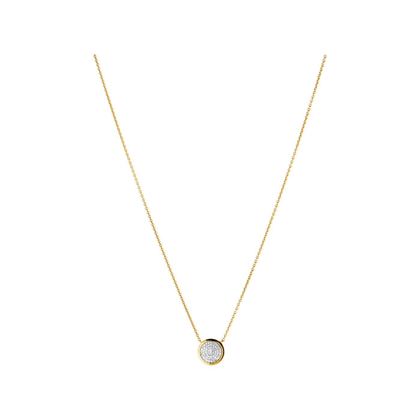 Links of London Diamond Essentials Pave Round Yellow Gold Vermeil Necklace - 5020.2725
