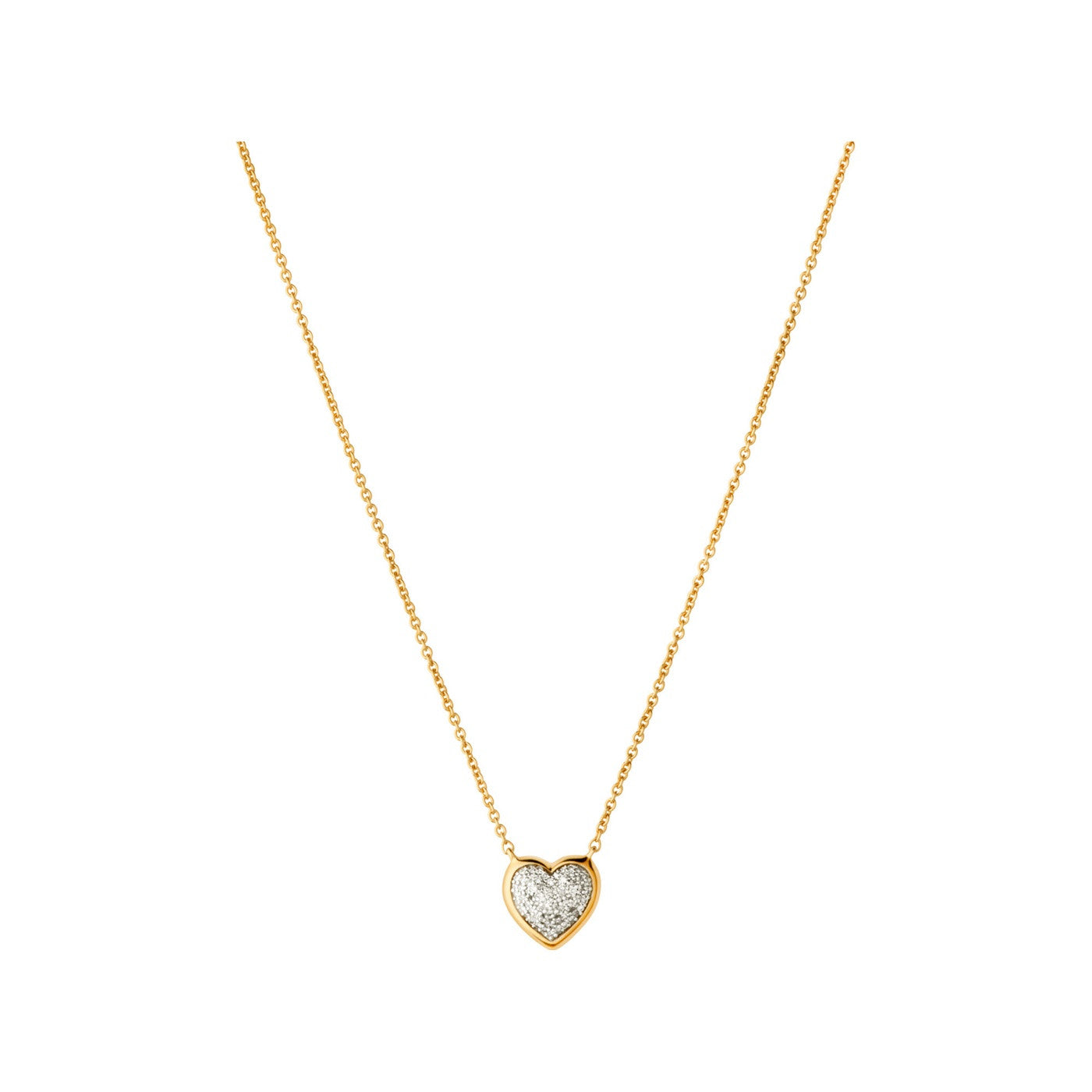Links of London Diamond Essentials 18k Yellow Gold Vermeil & Pave Heart Necklace - 5020.2728