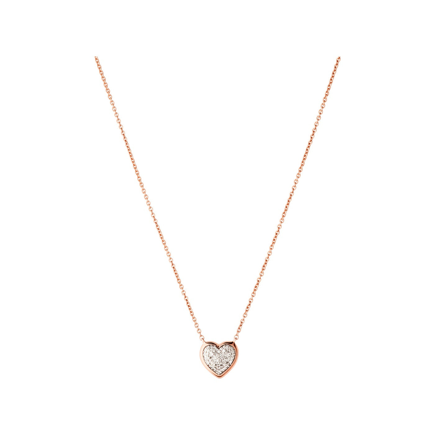 Links of London 18k Rose Gold Vermeil & Pave Heart Necklace - 5020.2728