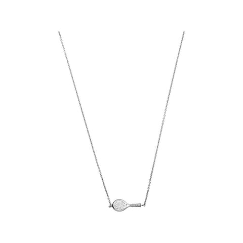 Links of London Wimbledon Sterling Silver & Diamond Racket Necklace - 5020.2825