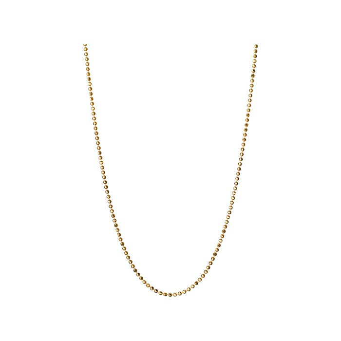 Links of London Facetted Gold Ball Chain - 5022.0750