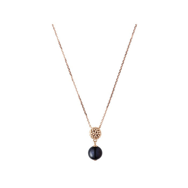 Links of London Effervescence Black Pearl Pendant Necklace - 5024.1141