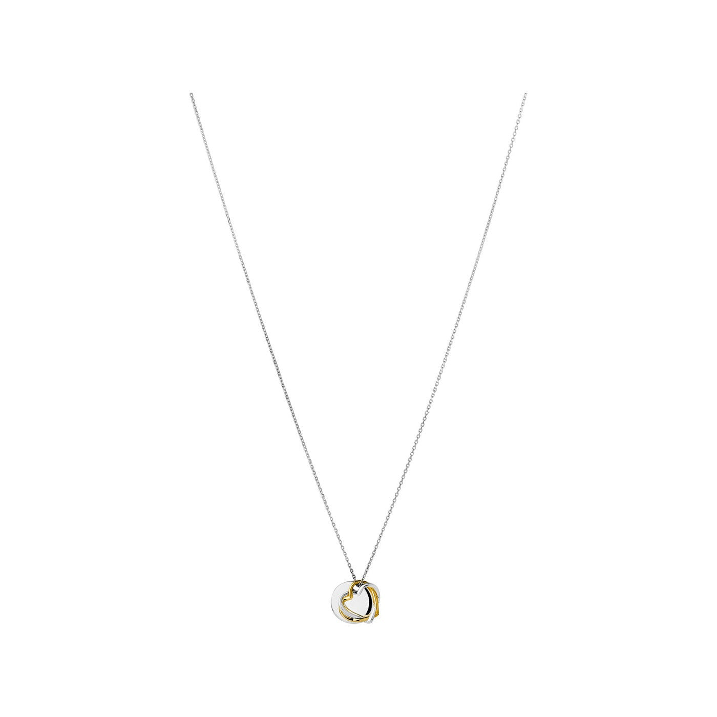 Links of London Kindred Soul Disc Yellow Gold Pendant Necklace - 5024.1311