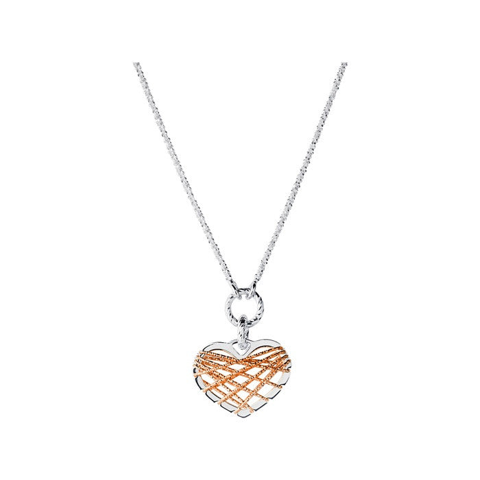 Links of London Dream Catcher Heart Rose Gold Pendant Necklace - 5024.1327