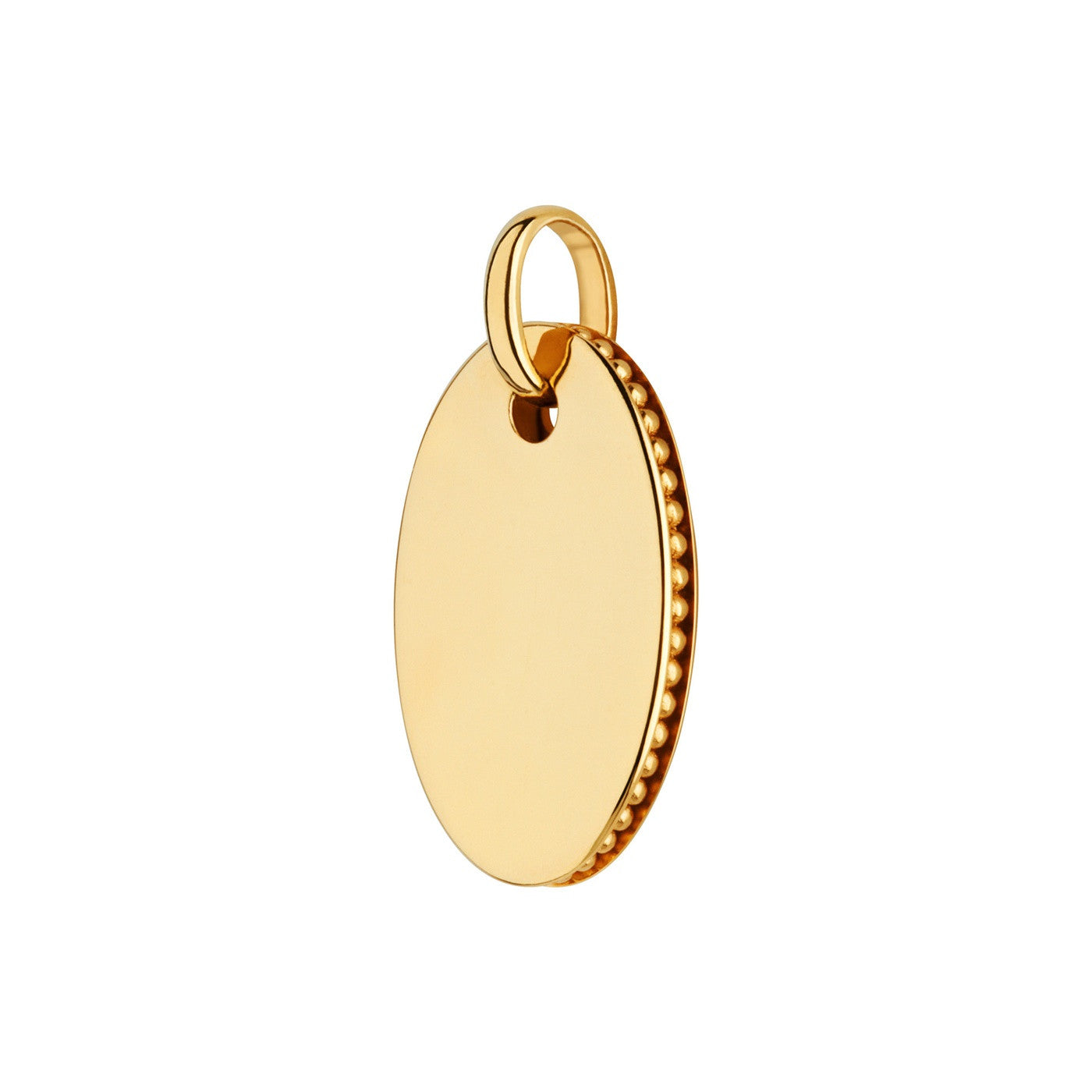 Links of London Narrative Small Oval Yellow Gold Vermeil Disc Pendant - 5024.1377
