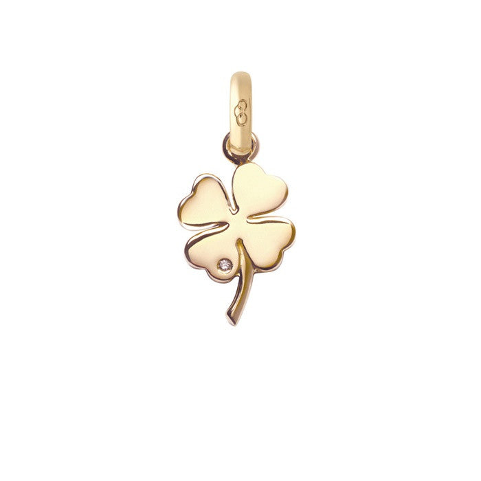 Links of London Four Leaf Clover 18k Gold & Diamond Charm - 5030.0404